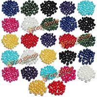 4 6 8мм многоцветные стеклянные бусины круглые свободные шарики прокладки DIY ювелирных аксессуаров