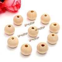 10шт 8мм деревянные бусины для браслета ожерелье ювелирных изделий поделок