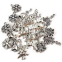 20шт смешанные новогодняя елка снеговик олень снежинка Pendents поделки