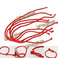 10шт 24см счастливчики красный ручной тканые веревки браслеты струна шнур
