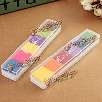 Поделки градиент цвета пусковой площадки чернил для резиновых штампов ткани древесины скрап-бумаги