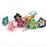 Бусины-цветы из полимерной глины 50шт