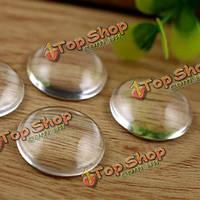 10шт прозрачное стекло круглые кабошоны поделок выводы для ювелирных изделий шарма