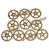 10шт Винтаж стимпанк зубчатое колесо Кулон очарование diy ювелирное дело