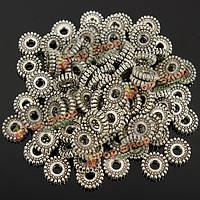 100шт тибетский серебро spacer бусины ювелирных изделий решений