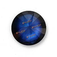 3.52ct 9мм круглый синий сапфир сыпучих драгоценных камней поделок дизайн решений