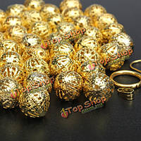 6 8 10мм 100шт золото серебро филигранные бусины DIY ювелирных изделий