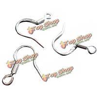Посеребренная мужская рыбой мотаться серьги металлические крючки катушка поделки поиске