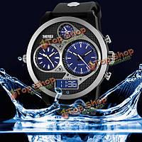 Вахта 1033 PU группа LED цифровые водонепроницаемые аналоговые кварцевые часы