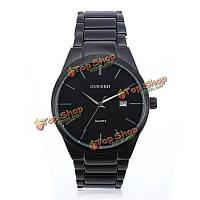 Мода оптом-curren 8106 черный нержавеющей стали круглые кварцевые наручные часы для мужчин