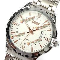 Вахта 9069 нержавеющей стальной лентой жизнь водонепроницаемый мужчины кварцевые наручные часы
