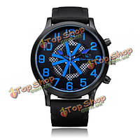 Супер скорость V6 с v0198 большой циферблат чистый черный количество мужчин наручные часы