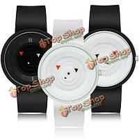 Краткое поворотный стол дизайн силиконовый ремешок мужчины женщины дети кварцевые часы