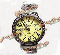 Модные старинные женщин круглый каркас браслет кварцевые часы