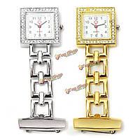 Нержавеющая сталь металл золото серебро цвета задней подсветки врача медсестры ФОБ кварцевые часы