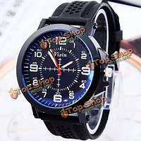 Визин силиконовой лентой спортивные часы большой циферблат