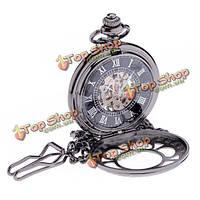 Карманные часы-кулон на цепочке с открытым механизмом