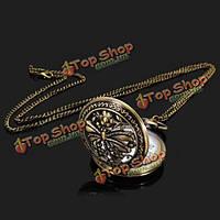 Стрекоза ожерелье цепь сплава женщин аналоговые карманные часы