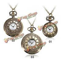 Винтаж Рома стимпанк кварцевые карманные часы кулон ожерелье женщин
