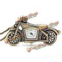 Винтажный дизайн мотоцикла ожерелье карманные часы