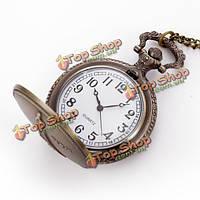Моды старинные карманные часы париж Towe рисунок античный цепь аналогового ожерелье кварцевые часы