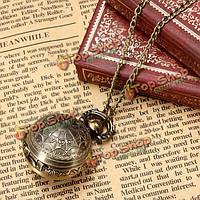 Винтажный шарик паровой панк кварцевые карманные часы кулон ожерелье женщин