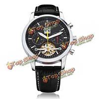 74f941c2 Jaragar механические с автоподзаводом турбийон 3 Циферблат черный мужские  часы