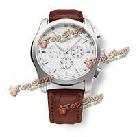 Sewor черный коричневый 3 механические циферблат мужские наручные часы