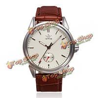 Sewor механически простой стиль кожа мужчины наручные часы