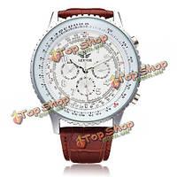 Sewor механическая точность военно-искусственная кожа мужчины наручные часы