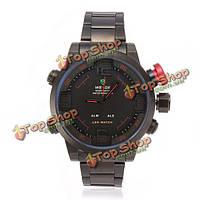 Часы мужские водонепроницаемые наручные Weide WH2309B Led