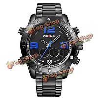 Часы мужские цифровые спортивные водонепроницаемые из нержавеющей стали Weide