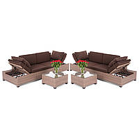 Садовая мебель Milano Brown Dark 2in1