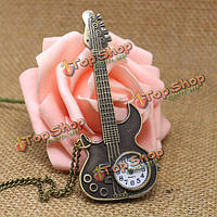Повседневная форма гитары дизайн аналоговые цепи карманные часы
