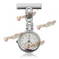Серебро нержавеющая сталь медсестра врач брошь кварцевые карманные часы