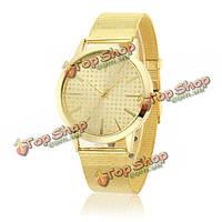 Мода свободно алмазный диск золотистого цвета пару наручных часов стальной сетки группы мужчины женщины кварцевые часы