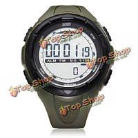 Вахта 1025 календарь спорт черные резиновые цифровые мужские наручные кварцевые часы