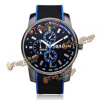 Sbao резины большой циферблат 3 Циферблат черный мужские наручные кварцевые часы