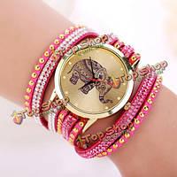 Часы-браслет кварцевые со слоником для девушки