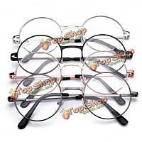 Круглая рамка металла дальнозоркостью очки для чтения очки усталость снимают прочности 1.0 1.5 2.0 2.5