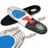 1 пара стелек поддержки свободный размер унисекс гель ортопедических ботинок спорта площадку арки вставить подушку