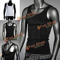 Мужская жирных живота для похудения тела формирователь жилет рубашка корсет нижнее белье