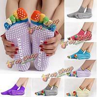 Носки с раздельными пальцами разноцветные
