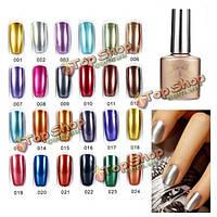 24 цветов впитать от цвета металла УФ гель лак для ногтей