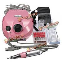 220В-250В электрическая машина сверла ногтя маникюр педикюр набор инструмента