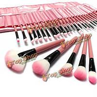 Набор косметических кистей для нанесения макияжа 32 шт