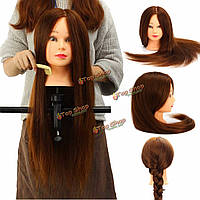 25 реальные человеческие волосы 100% Манекен головы салон парикмахерских подготовки модель зажим держатель