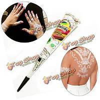 Натуральный белый паста хны конус временную татуировку 30g искусство тела инструмент