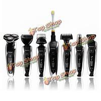 KM-8867 7в1 4D IPX7 моющийся электрическая бритва волос носа Триммер зубная щетка лица чистой щеткой