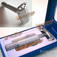 Традиционная безопасность двойным лезвием для бритья бритье волос бритвой зеркало